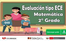Evaluación tipo ECE Matemática 2° Grado