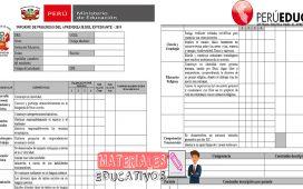 Formato de Informe de Progreso del Aprendizaje del Estudiante