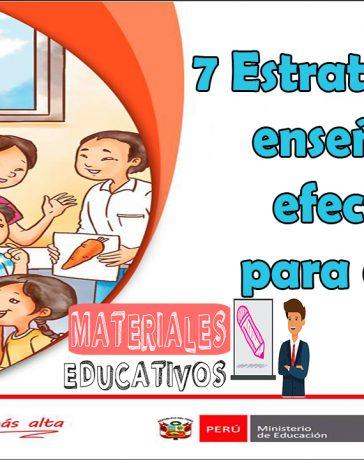 Estrategias de enseñanza efectivas para el aula