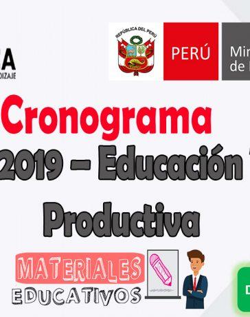 Ascenso 2019 – Educación Técnico Productiva