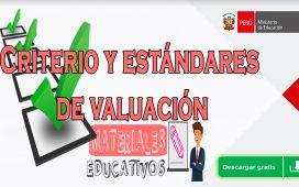 CRITERIO Y ESTÁNDARES DE EVALUACIÓN