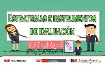 Estrategias e instrumentos de evaluación