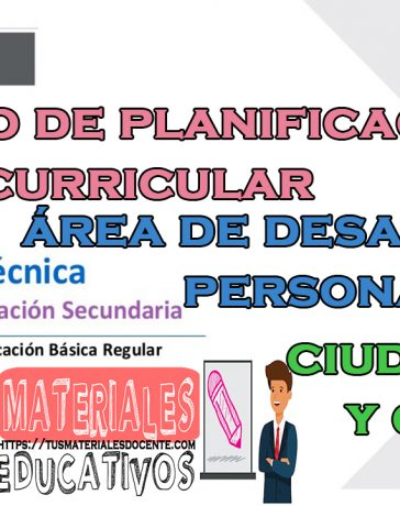 Proceso de planificación curricular área de desarrollo personal, ciudadanía y cívica