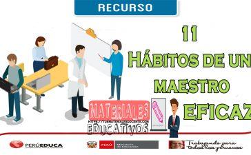 11 Hábitos de un maestro eficaz