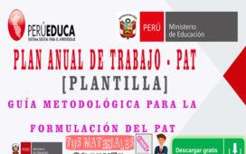 PLAN ANUAL DE TRABAJO PAT