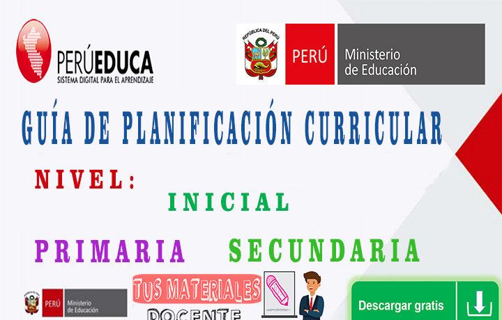 GUÍA DE PLANIFICACIÓN CURRICULAR