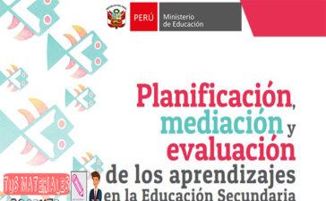 Minedu Planificación, mediación y evaluación de los aprendizajes