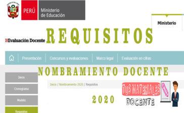 RequisitosNombramiento Docente 2020