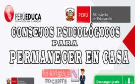 CONSEJOS PSICOLÓGICOS PARA PERMANECER EN CASA