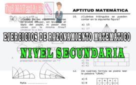 Ejercicios de razonamiento matemático nivel secundaria