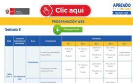 APRENDO EN CASA – Revisa aquí la programación web de la semana 8 [del 25 al 29 de mayo]