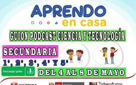 APRENDO EN CASA - Guion Podcast Ciencia y Tecnología