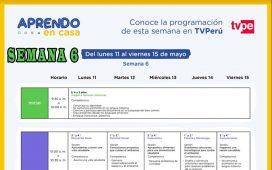 APRENDO EN CASA - Revisa aquí la programación de la semana 6