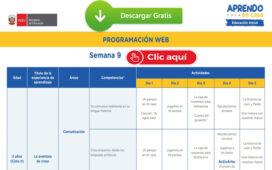 APRENDO EN CASA – Revisa aquí la programación web de la semana 9 [del 01 al 05 de junio]