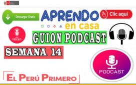 APRENDO EN CASA – Guion Podcast Semana 14 del lunes 06 al viernes 10 de julio