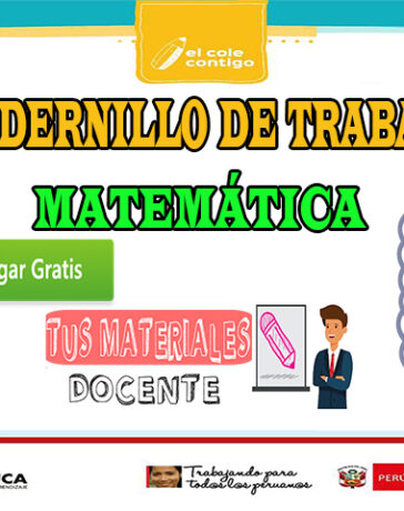 CUADERNILLO DE TRABAJO MATEMÁTICA