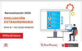 GUIA DE EVALUACION EXTRAORDINARIA PARA EL PROCESO DE RACIONALIZACION 2020