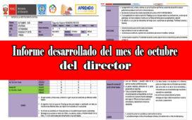 Modelo de informe mensual octubre del director de las actividades realizadas - Aprendo en Casa