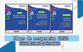Planes de recuperación 2020 para inicial, primaria y secundaria