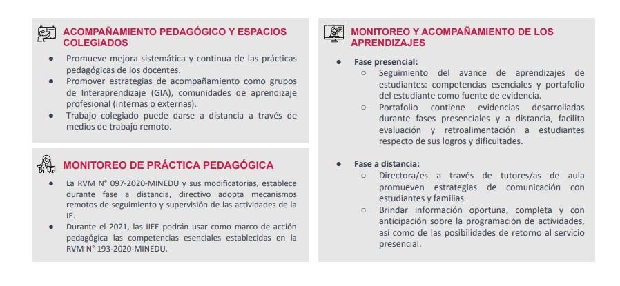 Acompañamiento y monitoreo pedagógico