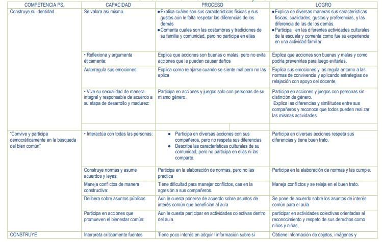CONCLUSIONES DESCRIPTIVAS PERSONAL SOCIAL 1ER y 2DO GRADO.