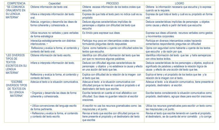 CONCLUSIONES DESCRIPTIVAS DE COMUNICACIÓN 1RO Y 2DO PRIMARIA