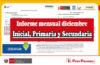 Minedu | Informe mensual diciembre - Inicial, Primaria y Secundaria