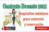 Minedu   Requisitos mínimos para contrato y renovación docente 2021