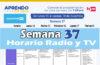 Semana 37 Programación de Radio y TV Aprendo en Casa del 14 al 18 de diciembre