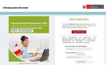 MINEDU | Disponible el aplicativo de inscripción para el nombramiento docente 2021