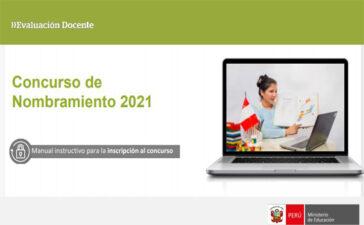 Manual instructivo para la inscripción al concurso de nombramiento docente 2021