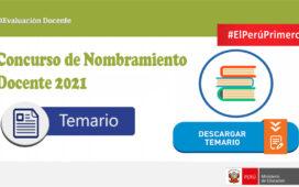 Minedu publica los temarios para el proceso de nombramiento docente 2021