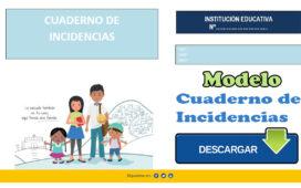 Modelo de Cuaderno de Incidencias para docentes