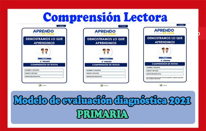 Modelo de evaluación diagnóstica 2021 del nivel primaria - Comprensión lectora