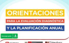 ORIENTACIONES PARA LA EVALUACIÓN DIAGNÓSTICA Y LA PLANIFICACIÓN ANUAL