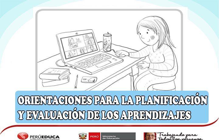 ORIENTACIONES PARA LA PLANIFICACIÓN Y EVALUACIÓN DE LOS APRENDIZAJES