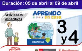 Actividad de Aprendizaje semanal - Primaria del 05 al 09 de abril