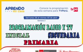 Programación radio y tv semana 2 aprendo en casa