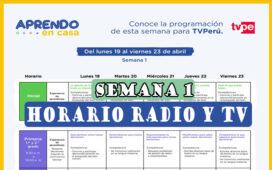 Ya salió la programación de Radio y TV - Aprendo en casa del 19 al 23 de abril