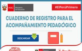 MINEDU | CUADERNO DE REGISTRO PARA EL ACOMPAÑAMIENTO PEDAGÓGICO