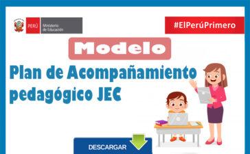 Plan de Acompañamiento pedagógico JEC