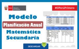 Planificación anual secundaria - Matemática