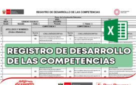 REGISTRO DE DESARROLLO DE LAS COMPETENCIAS