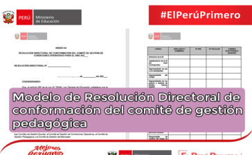 Modelo de Resolución Directoral de conformación del comité de gestión pedagógica