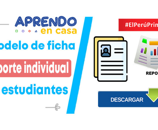 Modelo de ficha de reporte individual de estudiantes
