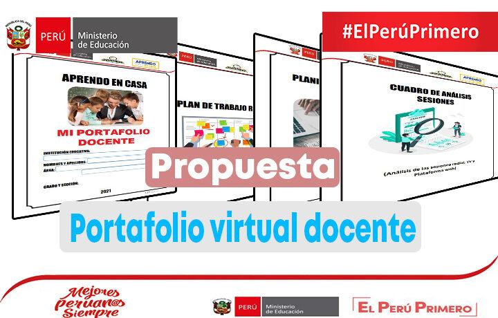 Propuesta de portafolio virtual docente