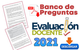 Banco de Preguntas - Evaluación Docente 2021